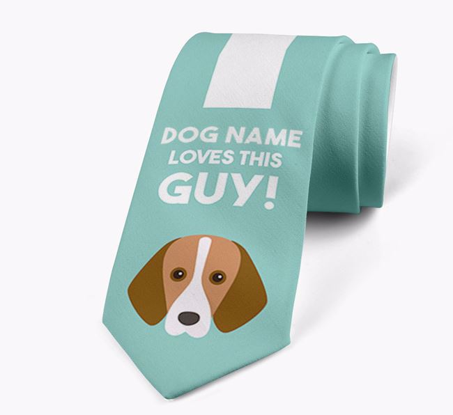 'Your Dog loves this guy!' Neck Tie with Harrier Icon