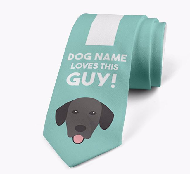 'Your Dog loves this guy!' Neck Tie with Springador Icon