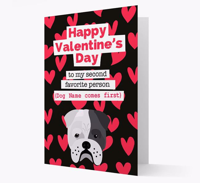 'To my Second Favourite Person' Card with your Bull Pei Icon
