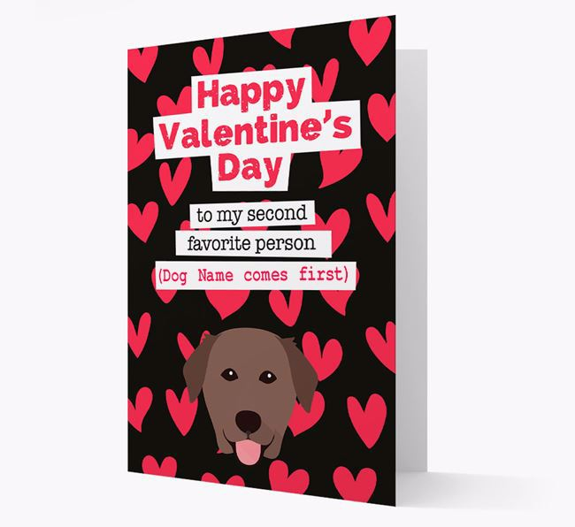 'To my Second Favourite Person' Card with your Golden Labrador Icon
