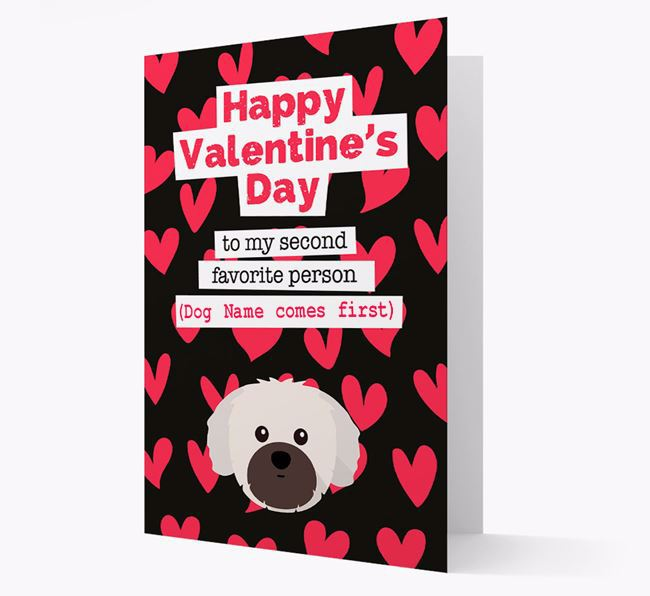 'To my Second Favourite Person' Card with your Shih Tzu Icon