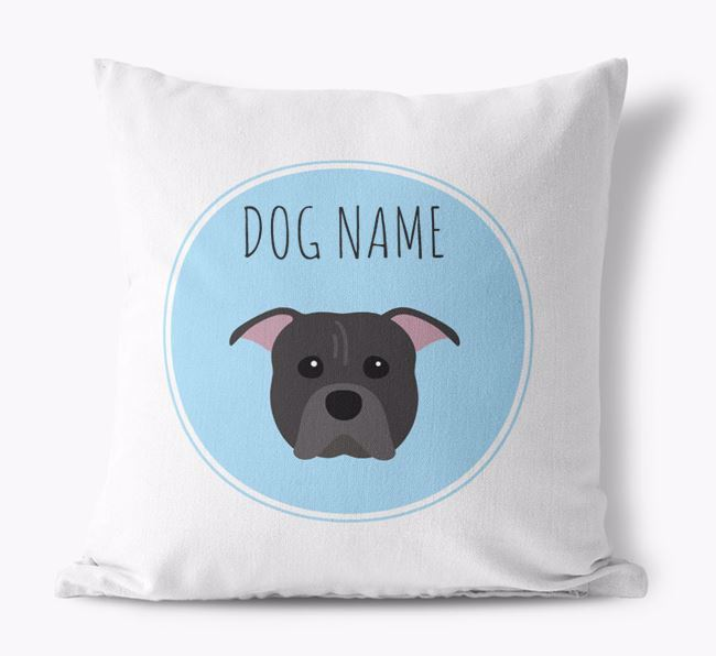 American Pit Bull Terrier Personalized Canvas Pillow