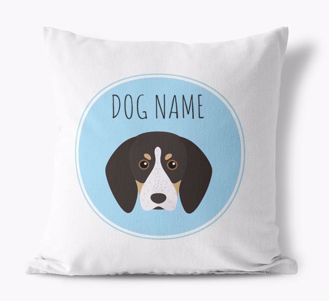 English Coonhound Personalized Canvas Pillow