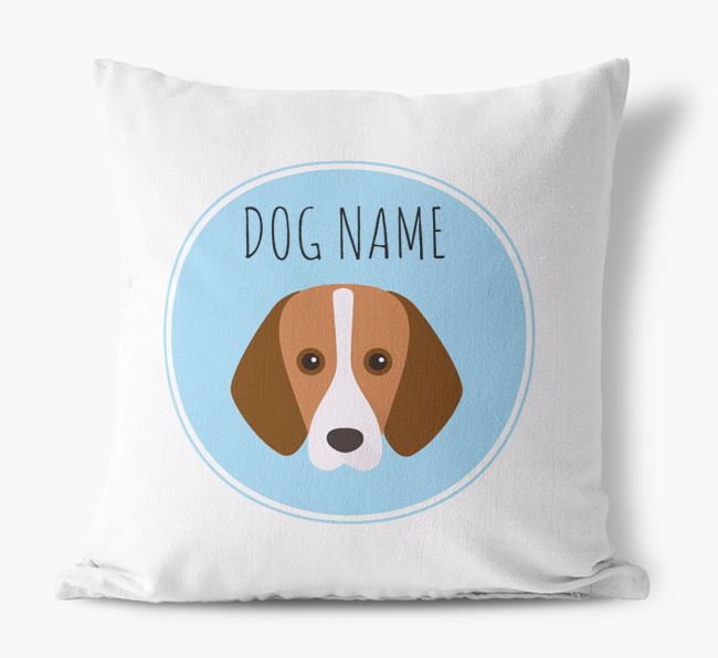 Foxhound Yappicon Canvas Cushion