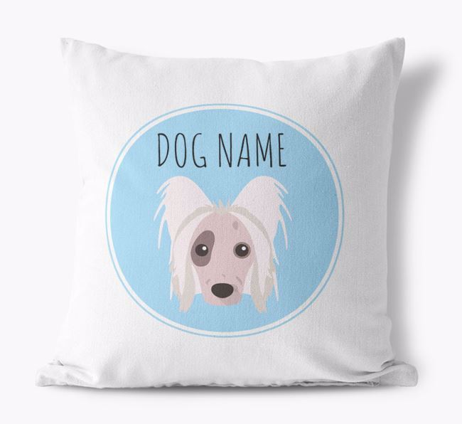 Hairless Chinese Crested Yappicon Canvas Cushion