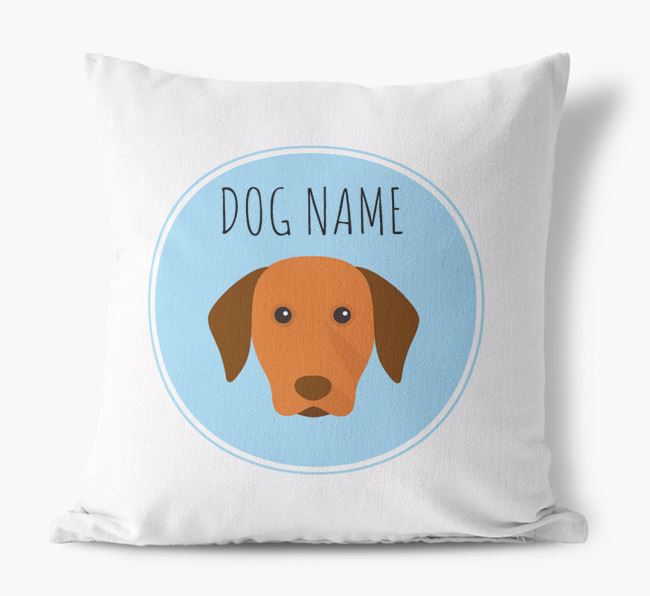 Dog Personalized Canvas Pillow