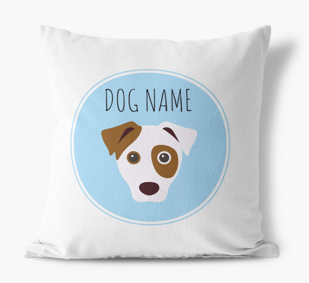 {colour} Dog Yappicon Canvas pillow front view