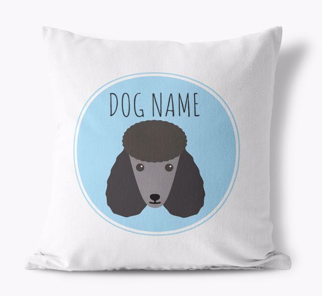Poodle Yappicon Canvas Cushion