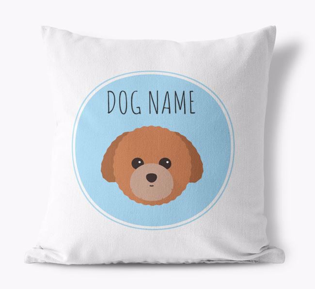 Toy Poodle Yappicon Canvas Cushion