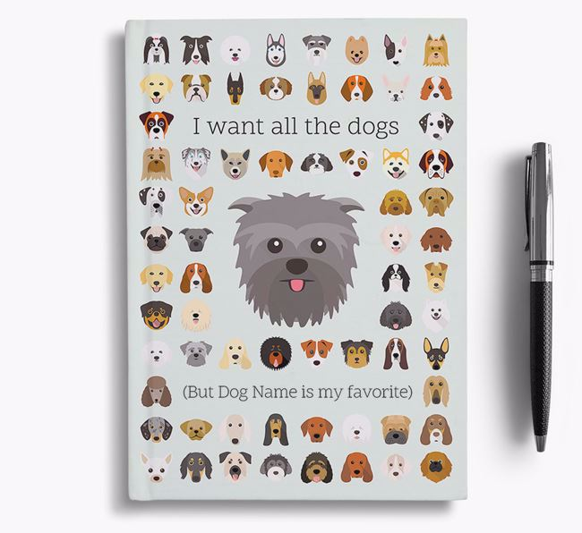 Affenpinscher 'I Want All The Dogs' Personalized Notebook
