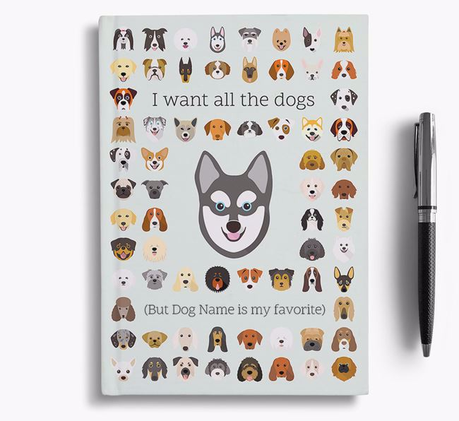 Alaskan Klee Kai 'I Want All The Dogs' Personalized Notebook
