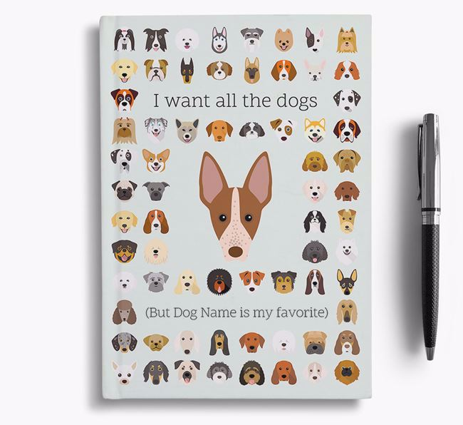 American Hairless Terrier 'I Want All The Dogs' Personalized Notebook