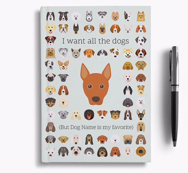 Basenji 'I Want All The Dogs' Personalized Notebook