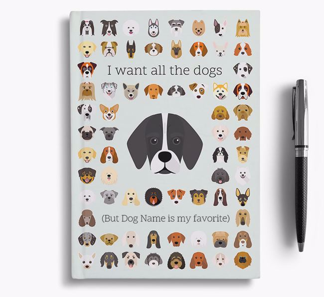 Bassugg 'I Want All The Dogs' Personalized Notebook