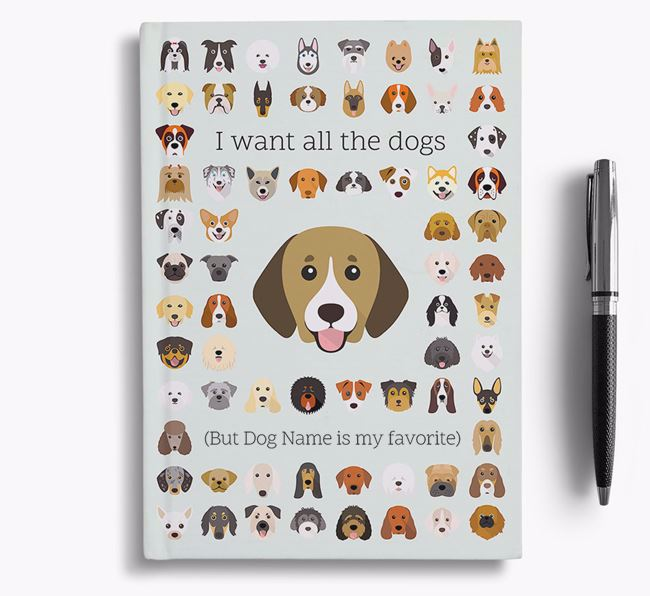 Beagador 'I Want All The Dogs' Personalized Notebook