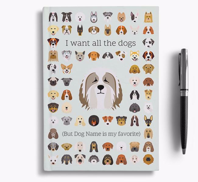 Bearded Collie 'I Want All The Dogs' Personalized Notebook