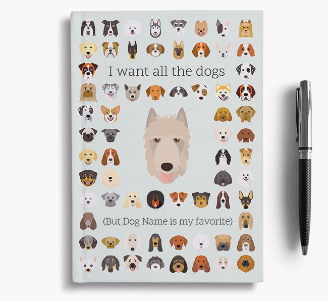 Belgian Laekenois 'I Want All The Dogs' Personalized Notebook