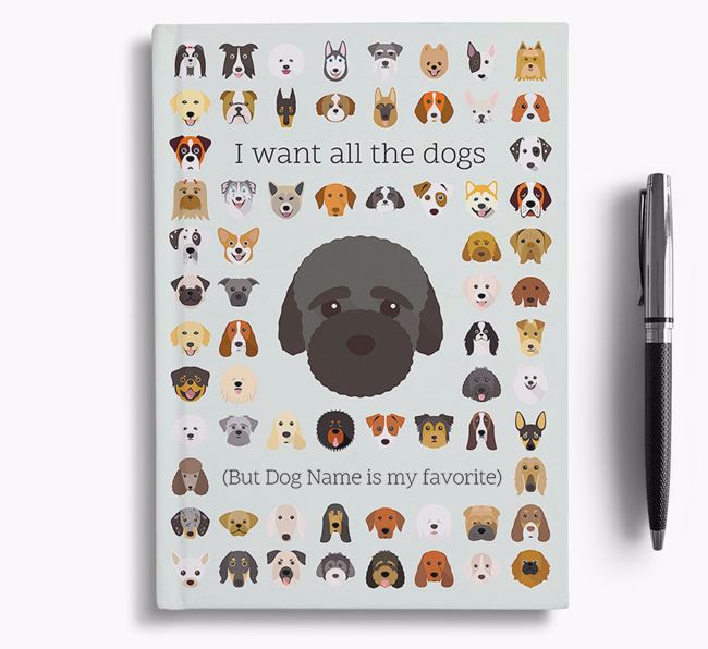Bich-poo 'I Want All The Dogs' Personalized Notebook