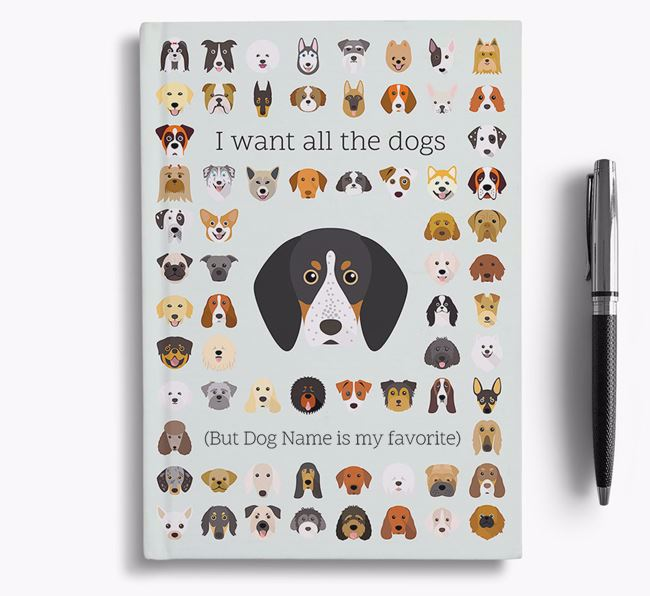 Bluetick Coonhound 'I Want All The Dogs' Personalized Notebook