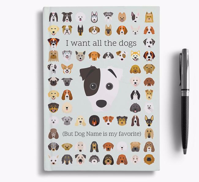 Border Jack 'I Want All The Dogs' Personalized Notebook