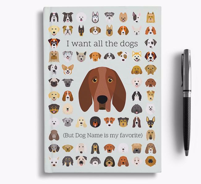 Bracco Italiano 'I Want All The Dogs' Personalized Notebook