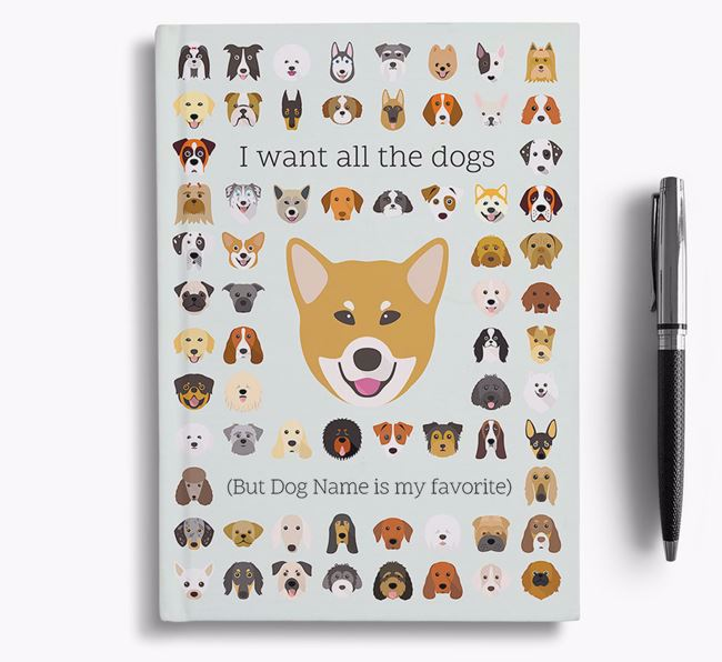 Canadian Eskimo Dog 'I Want All The Dogs' Personalized Notebook