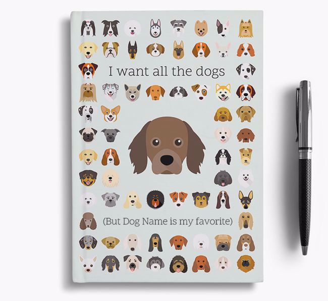 Cavapom 'I Want All The Dogs' Personalized Notebook