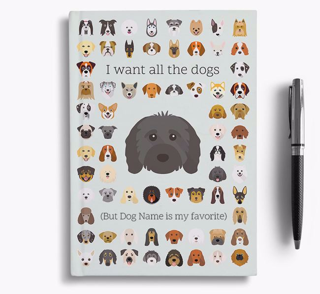 Cavapoo 'I Want All The Dogs' Personalized Notebook