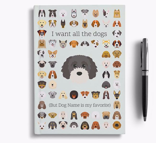 Cavapoochon 'I Want All The Dogs' Personalized Notebook