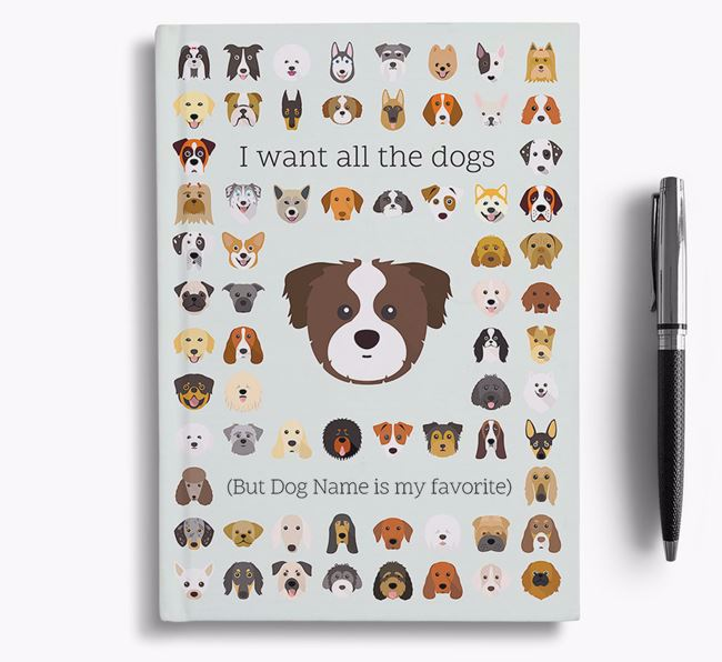 Cava Tzu 'I Want All The Dogs' Personalized Notebook