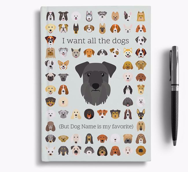 Cesky Terrier 'I Want All The Dogs' Personalized Notebook