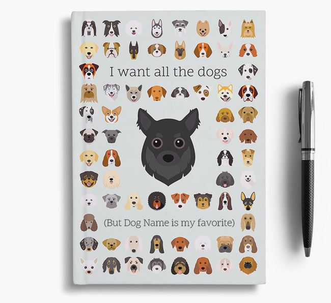 Chihuahua 'I Want All The Dogs' Personalized Notebook
