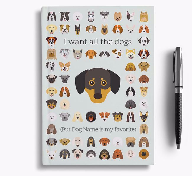 Chiweenie 'I Want All The Dogs' Personalized Notebook