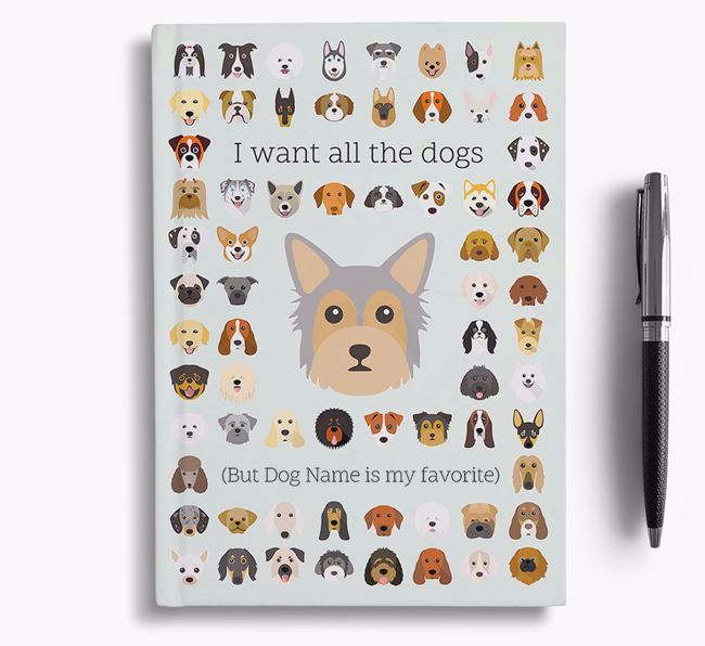 Chorkie 'I Want All The Dogs' Personalized Notebook
