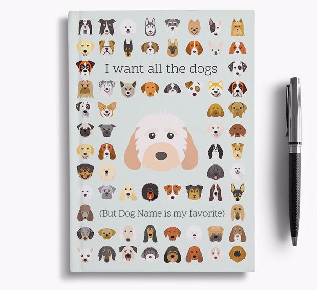 Cockapoo 'I Want All The Dogs' Personalized Notebook