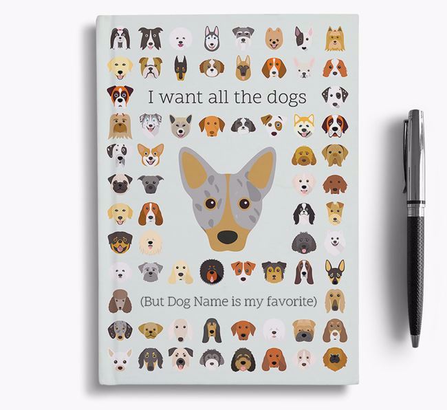 Cojack 'I Want All The Dogs' Personalized Notebook