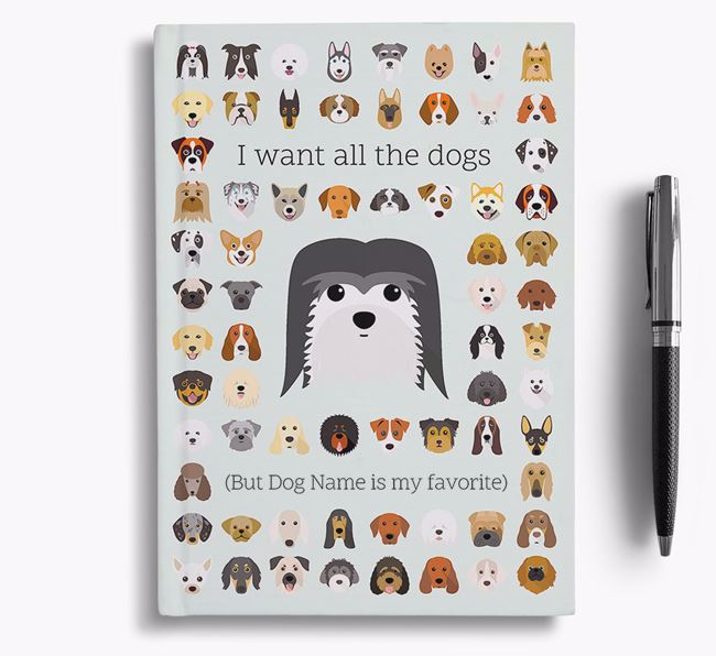 Coton De Tulear 'I Want All The Dogs' Personalized Notebook