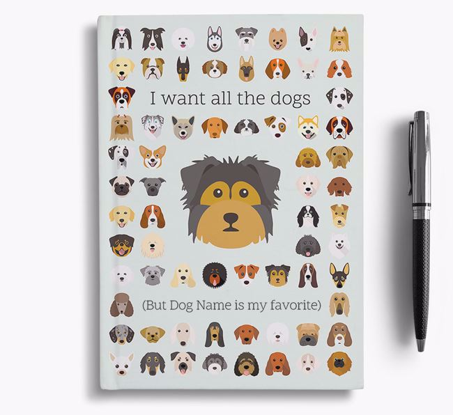 Dorkie 'I Want All The Dogs' Personalized Notebook