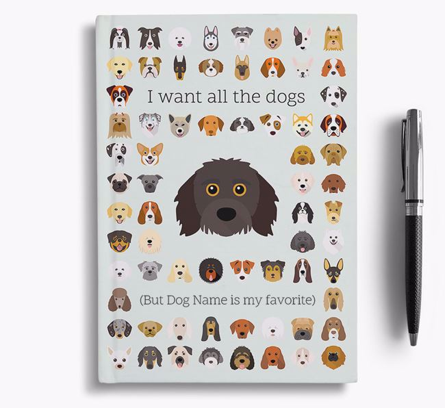 Doxiepoo 'I Want All The Dogs' Personalized Notebook
