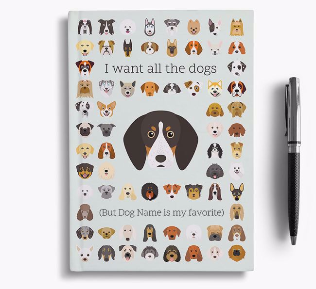 English Coonhound 'I Want All The Dogs' Personalized Notebook