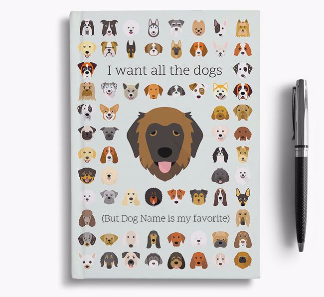 Estrela Mountain Dog 'I Want All The Dogs' Personalized Notebook