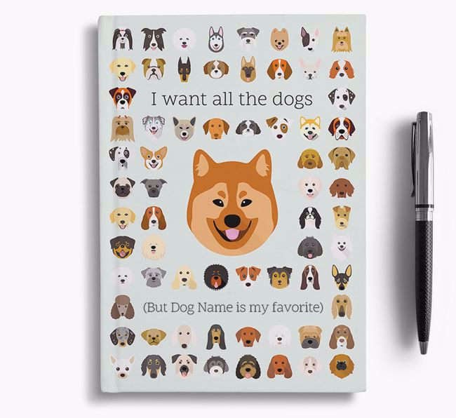 Eurasier 'I Want All The Dogs' Personalized Notebook