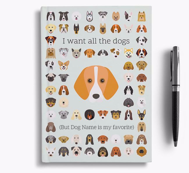 Foxhound 'I Want All The Dogs' Personalized Notebook