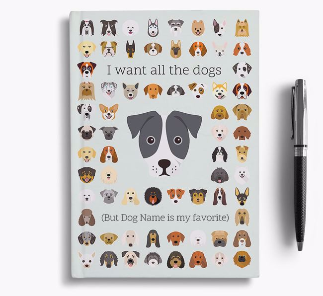 French Bull Jack 'I Want All The Dogs' Personalized Notebook