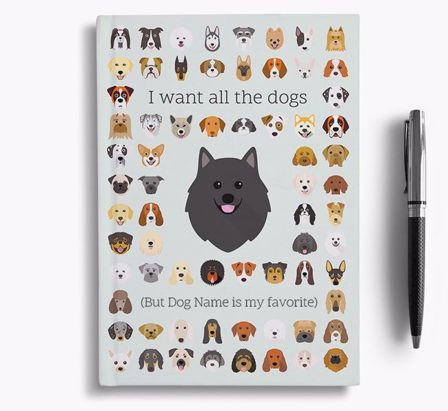 German Spitz 'I Want All The Dogs' Personalized Notebook
