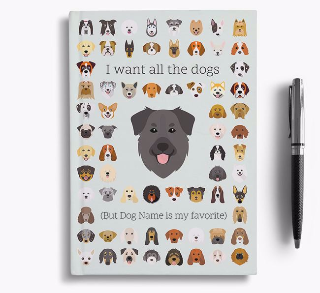 Golden Shepherd 'I Want All The Dogs' Personalized Notebook