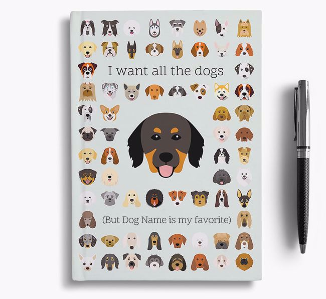 Hovawart 'I Want All The Dogs' Personalized Notebook