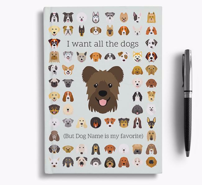 Hungarian Pumi 'I Want All The Dogs' Personalized Notebook