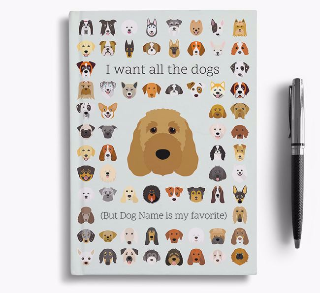 Irish Doodle 'I Want All The Dogs' Personalized Notebook