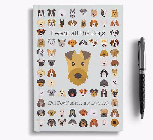 Irish Terrier 'I Want All The Dogs' Personalized Notebook